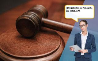 Пожизненное лишение водительских прав в России: в каком случае лишают