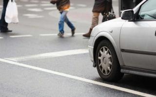 Наезд на пешехода на пешеходном переходе в 2020 году: ответственность и штраф