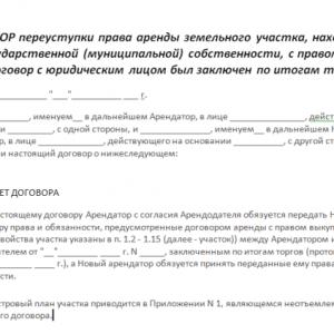 Аренда земельного участка в 2020 году: земельное право, переуступка, документы (  договор)