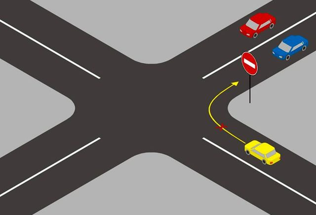 Знак Кирпич в ПДД 2020 года: штраф за проезд под знак въезд запрещен или лишение