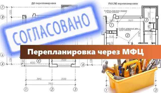 Перепланировка квартиры через МФЦ в 2020 году: согласование, как узаконить