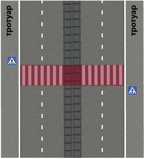 Знак Пешеходный переход 5.19.1 по ПДД 2020 г, зона действия, фото